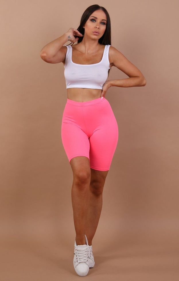 Pink-Neon-Cropped-Short-Leggings-Kim
