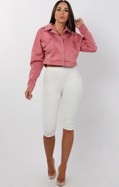 Rose Cropped Trucker Jacket - Holden