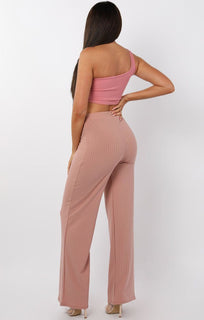Rose One Shoulder Crop Top - Keeley