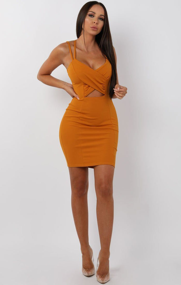 Mustard-Cross-Over-Bodycon-Mini-Dress-Maria