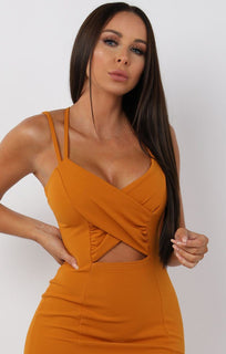 Rust-Cross-Over-Bodycon-Mini-Dress-Maria