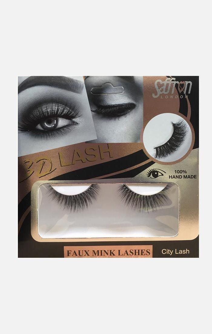 Saffron Faux Mink False Eyelashes - City Lash