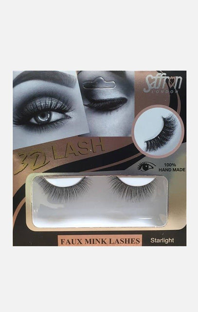 Saffron Faux Mink False Eyelashes - Starlight