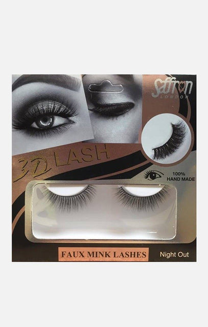 Saffron Faux Mink False Eyelashes - Night Out