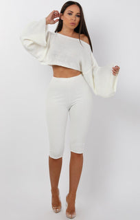 White-Cropped-Flare-sleeve-Knitted-Jumper-Judy