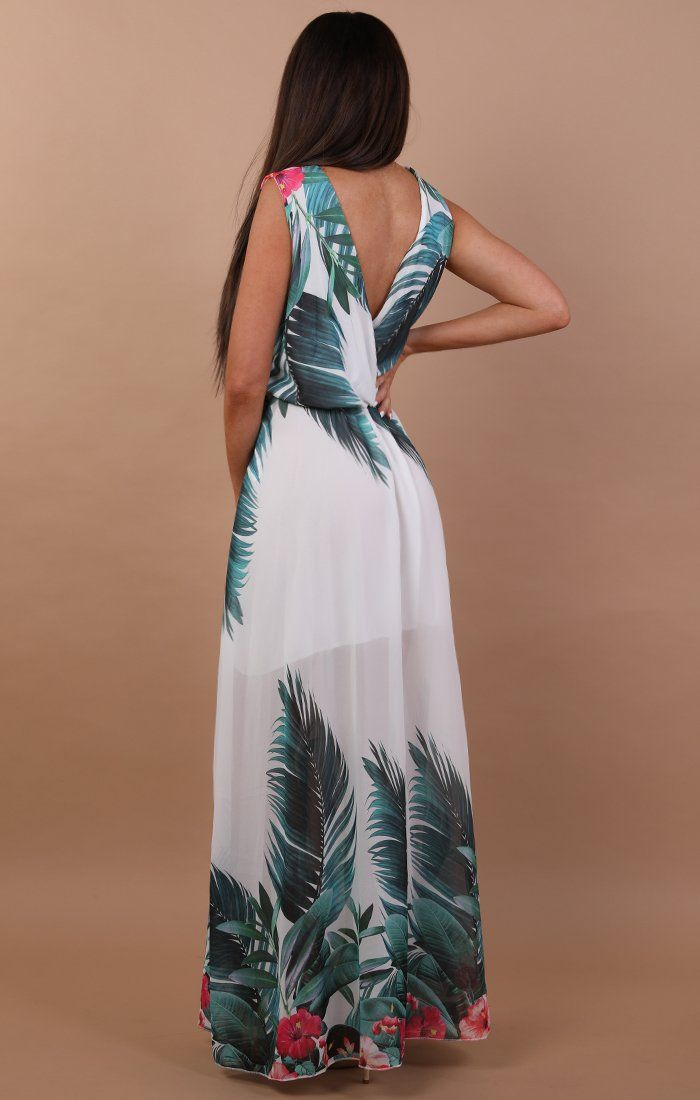 Tropical Print Maxi Dress - Poppy
