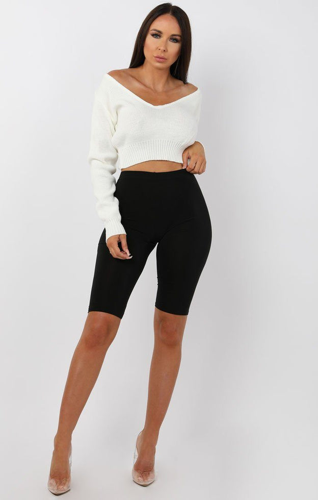 White-V-Neck-Cropped-Jumper-Cordelia