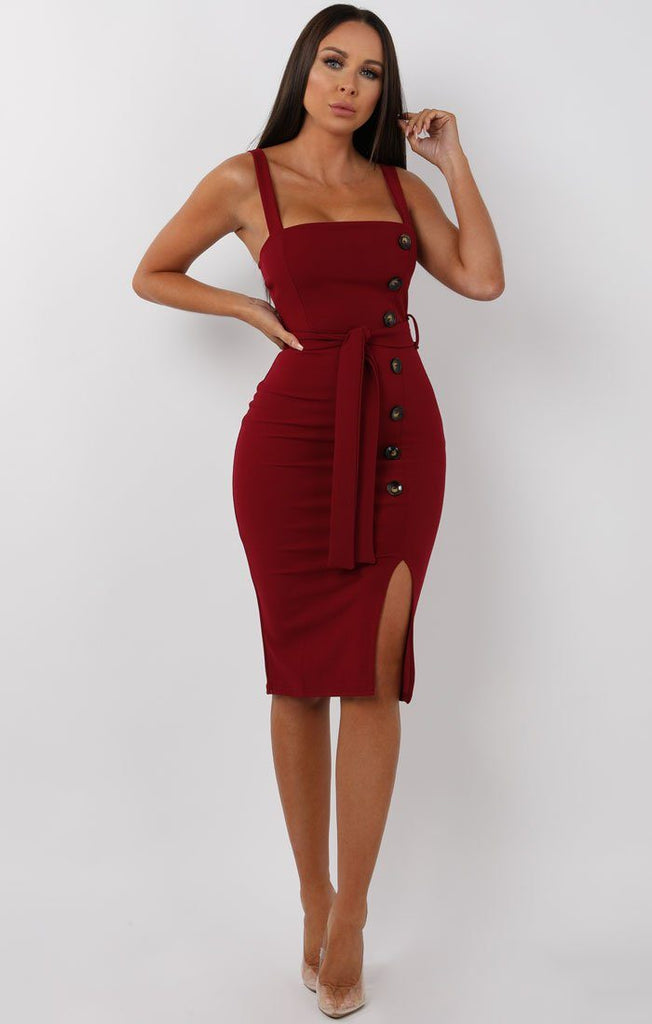 Morocco queenstown Spaghetti Strap Cross Straps Curved Hem Plain Maxi Dresses online unflattering