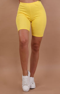 Yellow cropped basic leggings - Roxanne