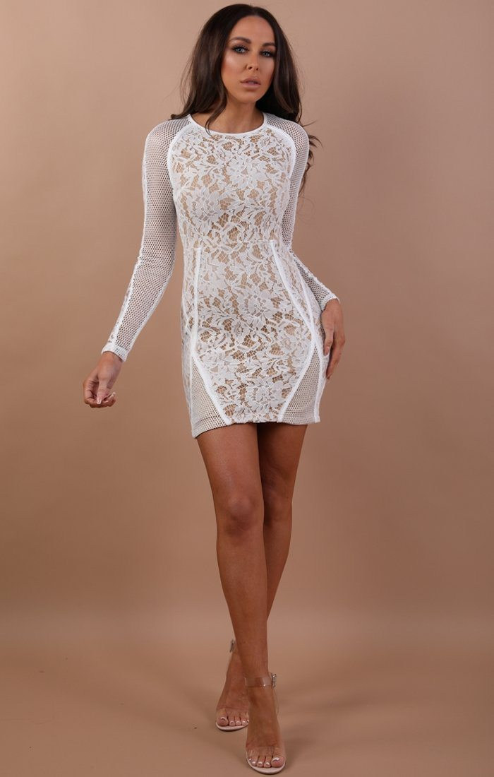 White-Mesh-Lace-Bodycon-Dress–Annabelle