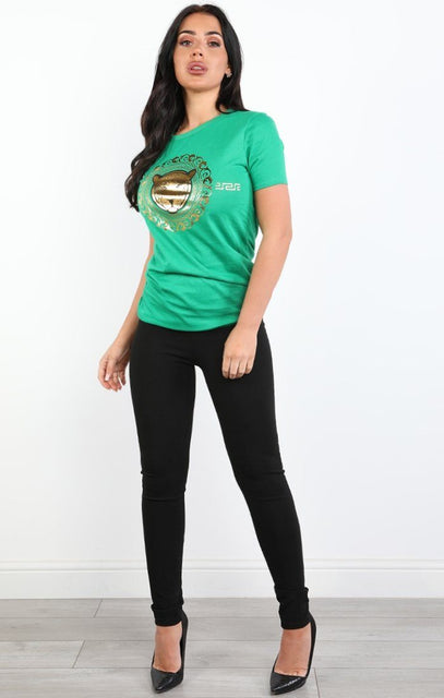 Green Tiger T-shirt - Christine