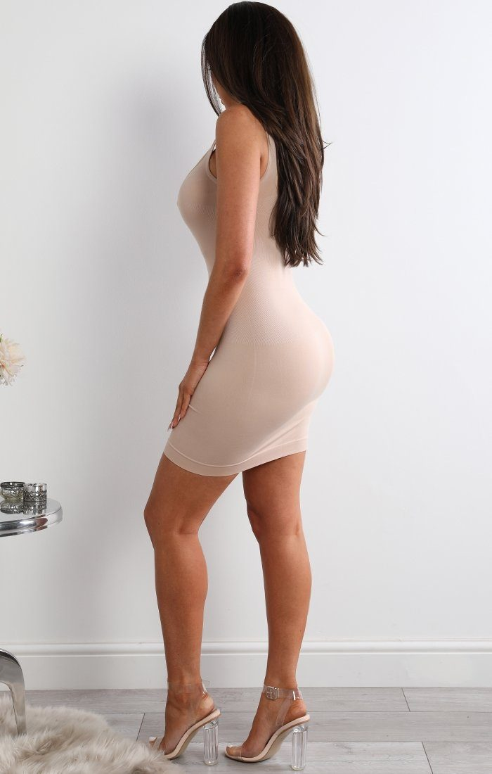Luxury Nude Firm Control Bodycon Dress - Beverly