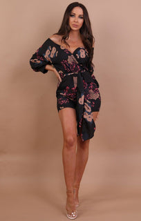 black-floral-satin-playsuit-rosina