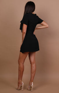 Black-Cut-Out-Frill-Detail-Dress