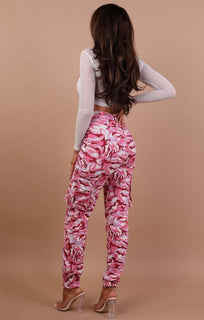 Pink Pocket Detail Camo Trousers - Jemima