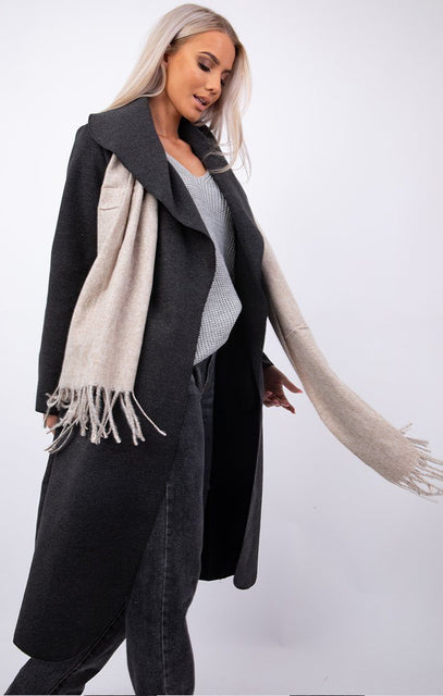 Beige Brushed Scarf - Elsa