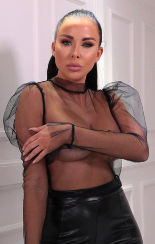 Black Fishnet Tops