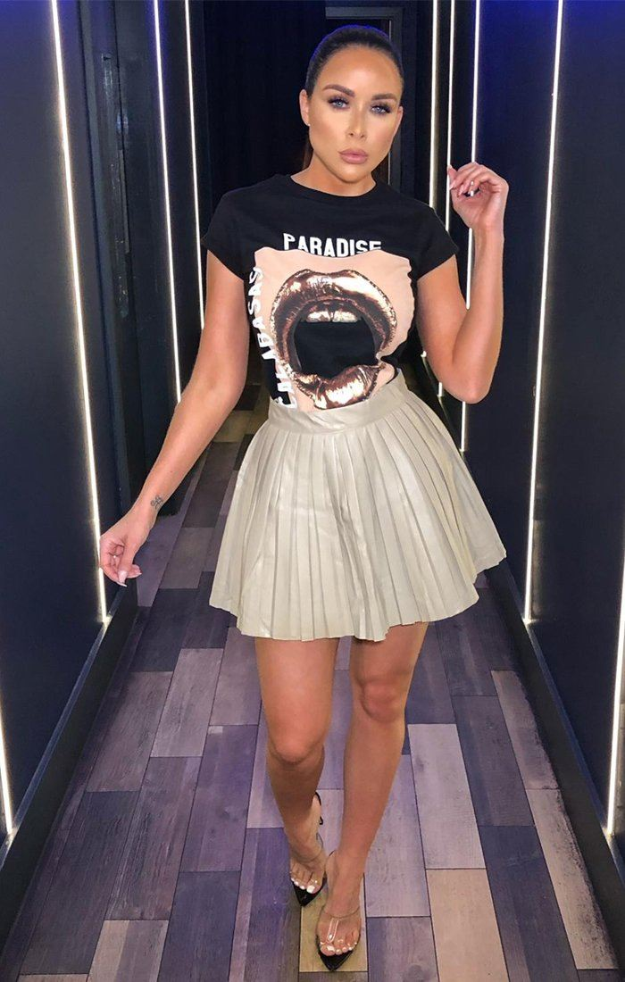 Black Gold Lip Print T-shirt - Camille