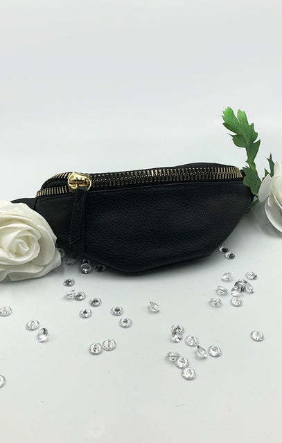 Black Gold Zip Bum Bag - Eden