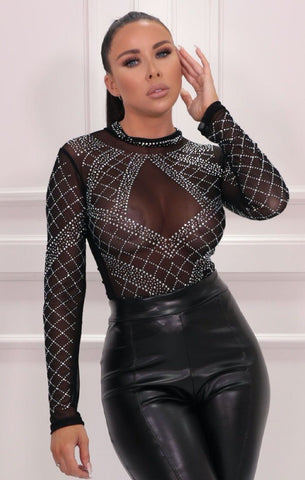 Black Sparkly Bodysuits