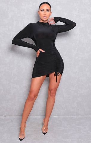 Black Long Sleeve Bodycon Dresses