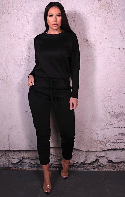 Black Long Sleeve Loungewear Set - Dua
