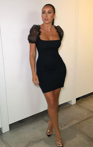 Black Mesh Bodycon Dresses