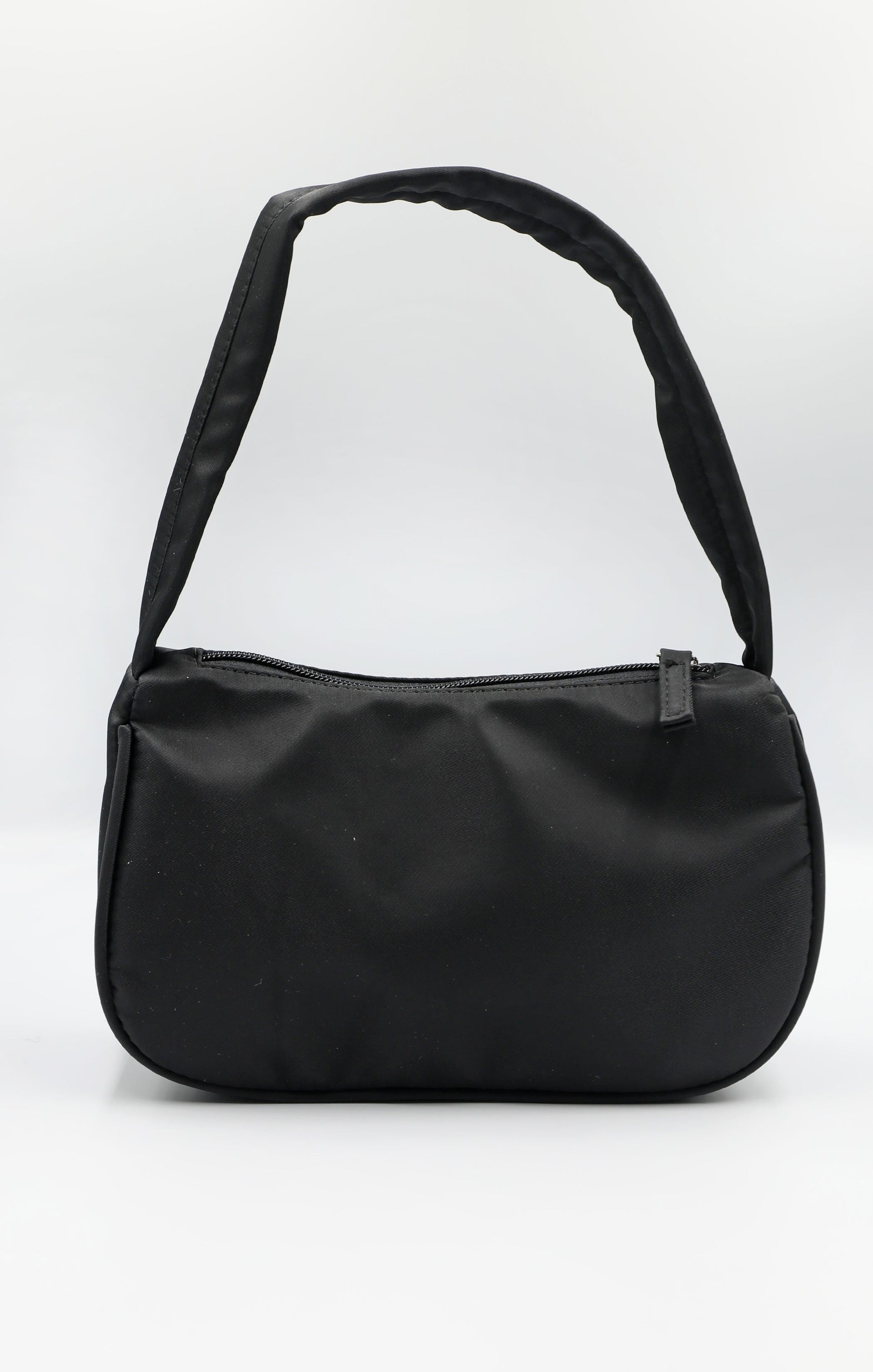 Black Nylon 90's Shoulder Bag - Samantha