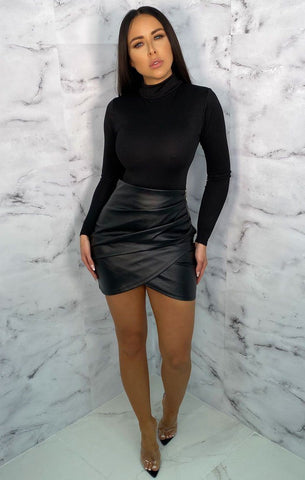 Black Wrap Skirts