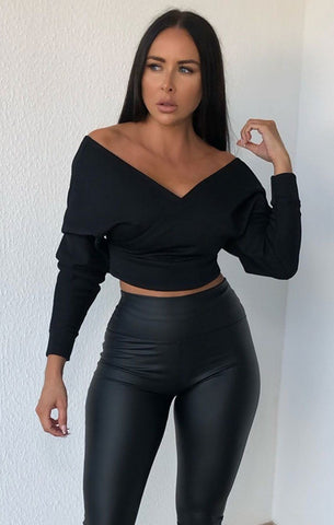 Black Off The Shoulder Tops