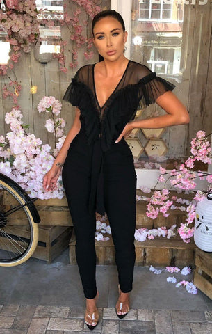 Black Ruffle Bodysuits