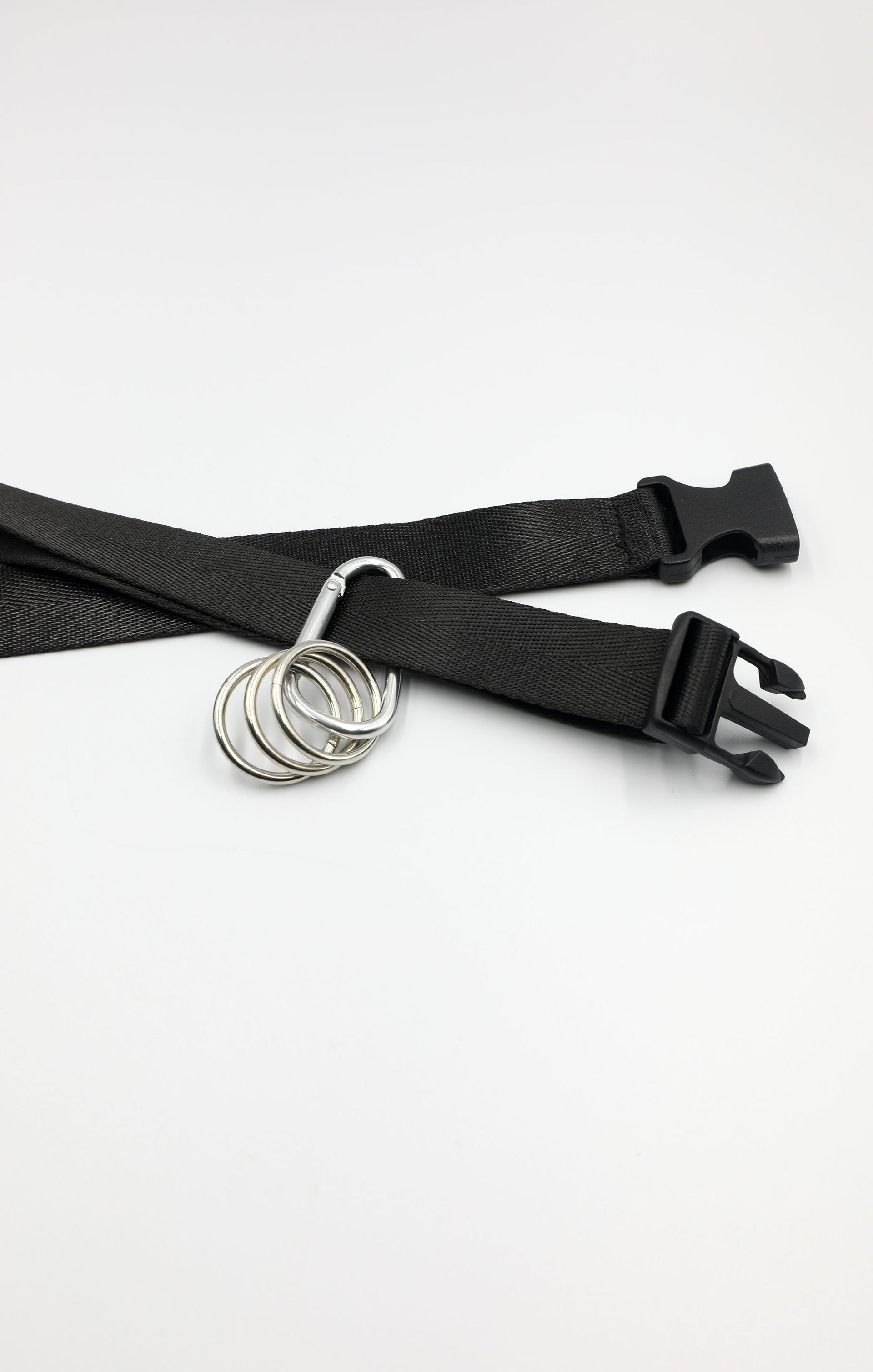 Black Utility Carabiner Seatbelt Buckle Belt - Penny