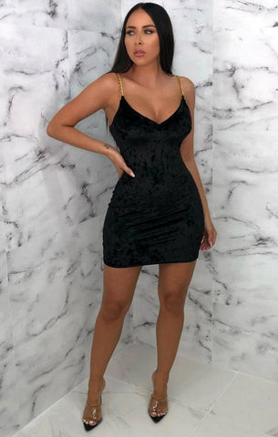 Black Velvet Bodycon Dresses