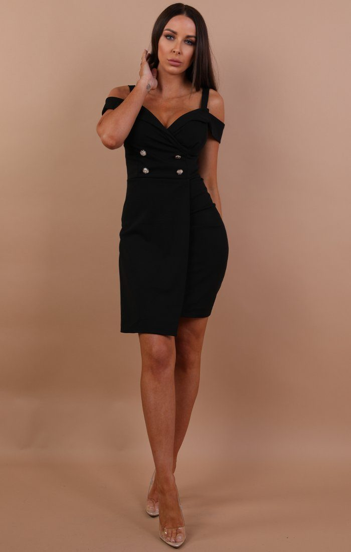 black-cold-shoulder-blazer-dress-nikki