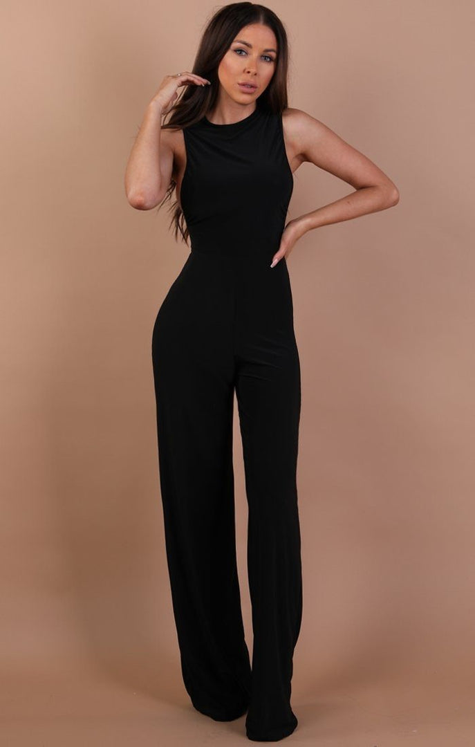 Black Slinky Jumpsuit – Heather