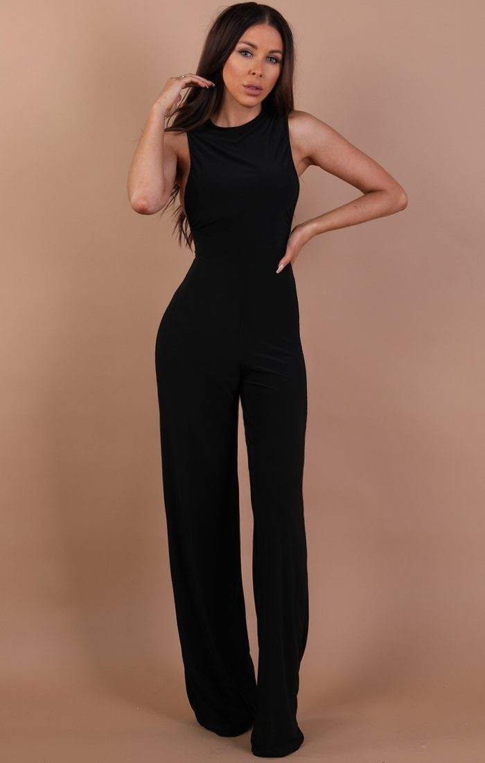 Black Slinky Jumpsuit – Heather jumpsuits Femme Luxe 6