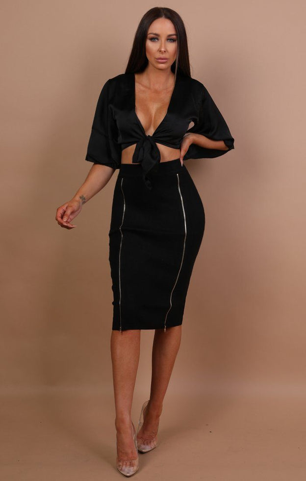 Black-Zip-Up-Bodycon-Midi-Skirt