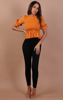 Orange-Frill-Detail-Top