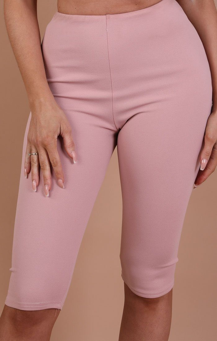 Dusky Pink Basic Crop Shorts – Rae