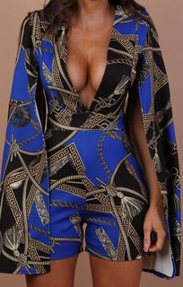 Blue-Scarf-Print-Plunge-Cape-Playsuit-Diana