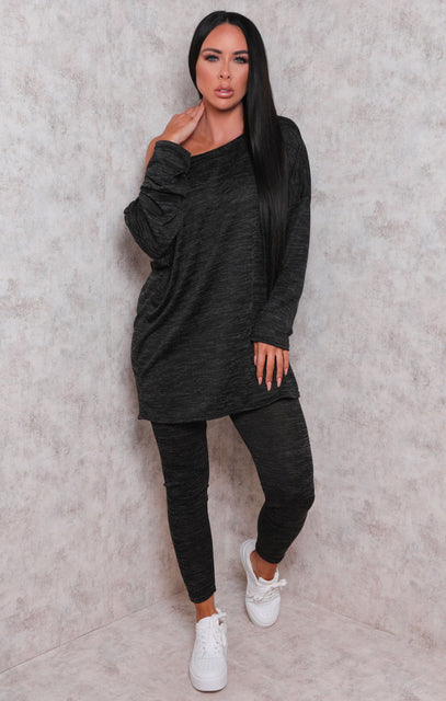 Charcoal Oversized Loungewear Set - Bonnie