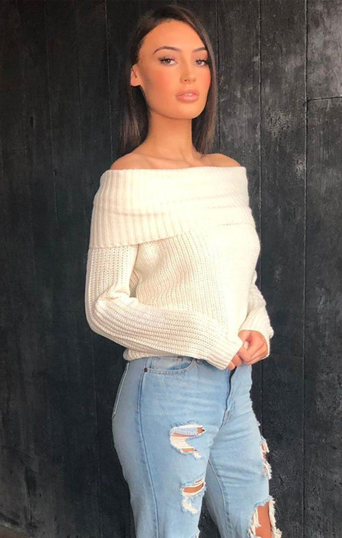 Cream Knitted Multiway Jumper - Jesy