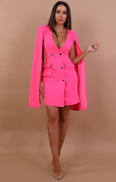 Pink Split Sleeve Blazer Dress - Abby