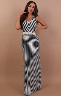 Black-stripe-maxi-dress-tasha