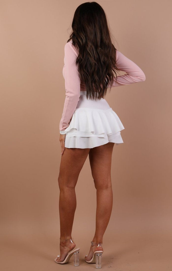 Nude Bow Tie Long Sleeve Bodysuit – Tamsin