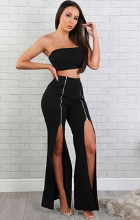 black-zipper-two-piece-set-arabella