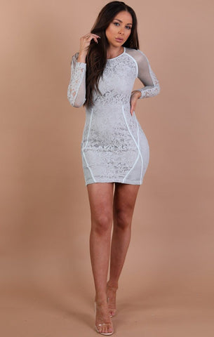 Blue Lace Bodycon Dresses