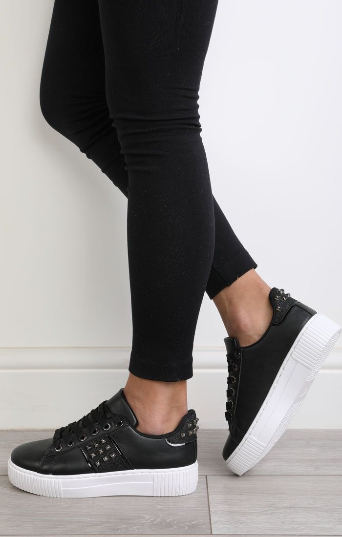 Black-sparkle-studded-trainers-Safiya