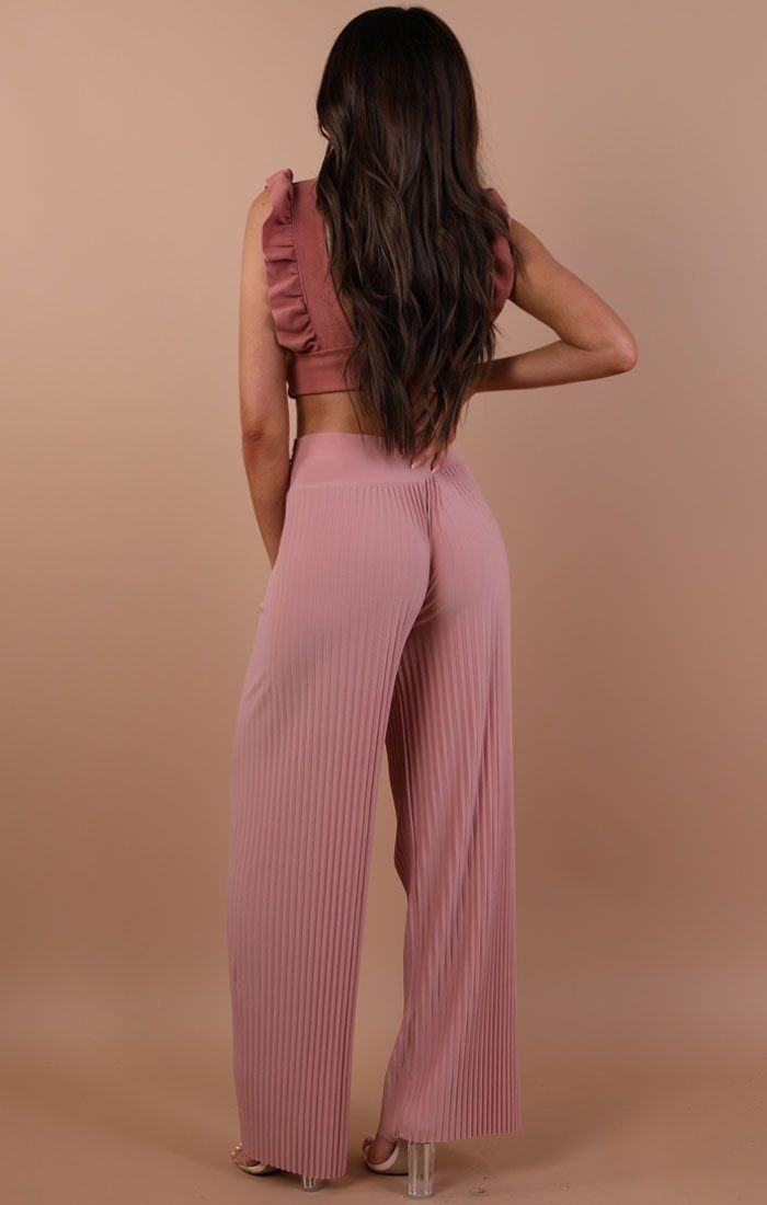 Rose Pleated Wide Leg Trousers - Lucille