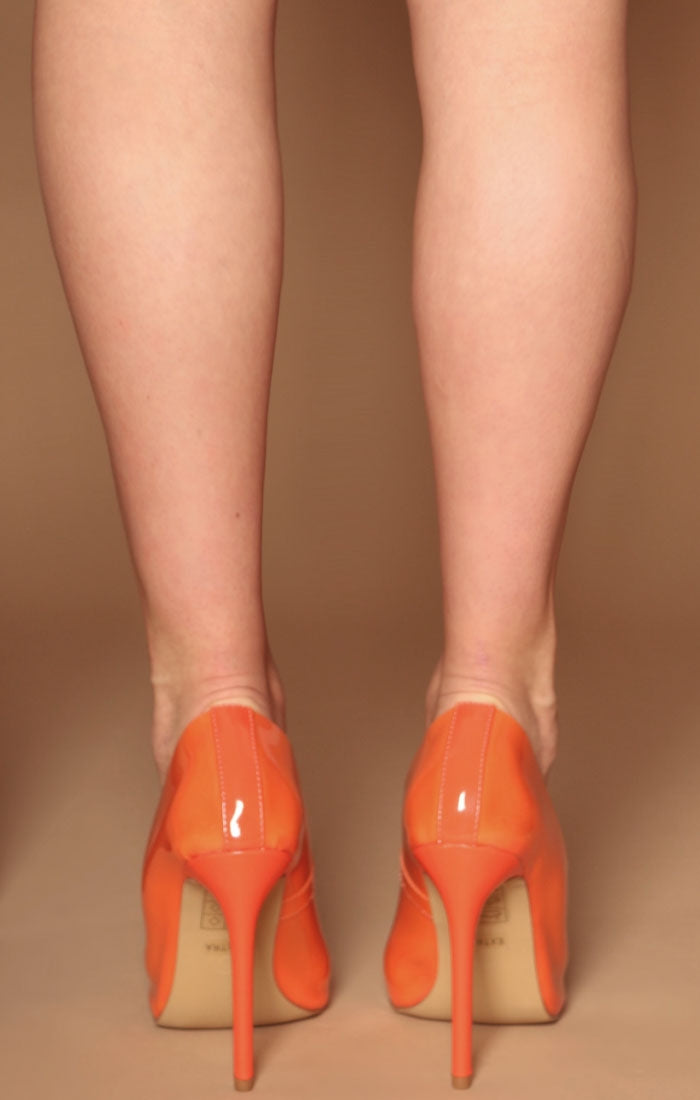 Orange Perspex Stiletto Heel - Alexis